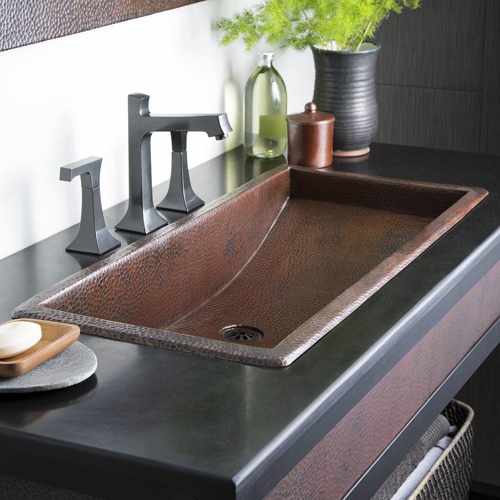 native trails cps06 trough 36 inch single basin universal mount rectangular copper bathroom sink