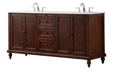 direct vanity sink 6070d9 est classic 70 inch double vanity in dark brown with white marble vanity top