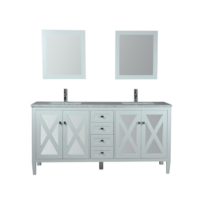 mtd mtd 7172w reflection 72 inch single sink bathroom vanity in white