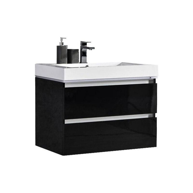 mtd mtd lv24b maui 24 inch led illuminated single sink wall mount floating bathroom vanity with acrylic top
