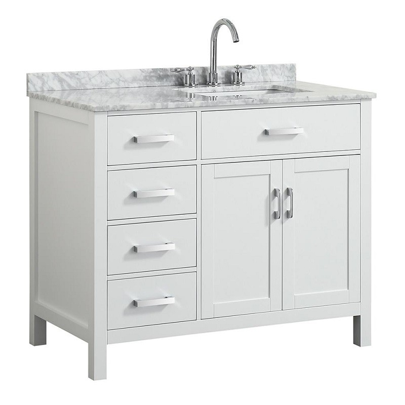 belmont decor bdv043srrec hampton 43 inch single sink vanity with right offset rectangle sink