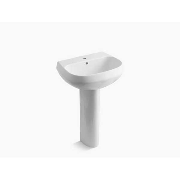 kohler k 2293 1 wellworth pedestal lavatory with single hole faucet drilling