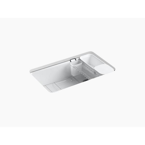 kohler k 5871 5ua3 33 x 22 x 9 5 8 inch undermount single bowl kitchen sink with accessories