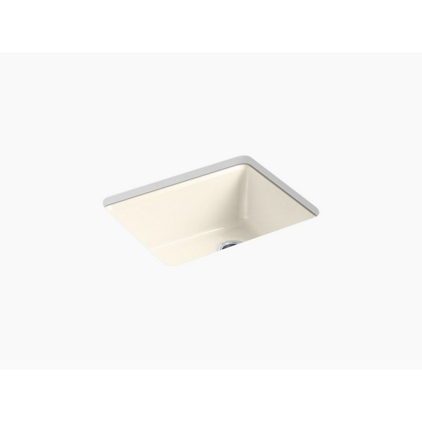 kohler 5872 5ua1 riverby 25 inch undermount single basin cast iron kitchen sink sea salt