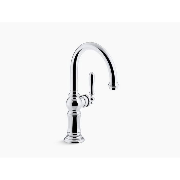 kohler k 99264 artifacts high arch 13 1 16 inch bar faucet with temperature memory technology