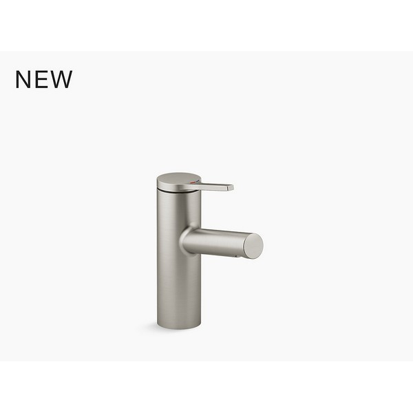 kohler k 99492 4 bn elate 0 5 gpm single hole bathroom faucet with pop up drain assembly vibrant brushed nickel