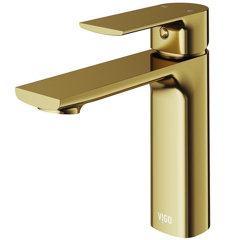 vigo vg01043mg davidson single hole bathroom faucet matte brushed gold