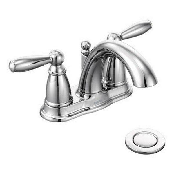 moen 6610 brantford two handle high arc bathroom faucet