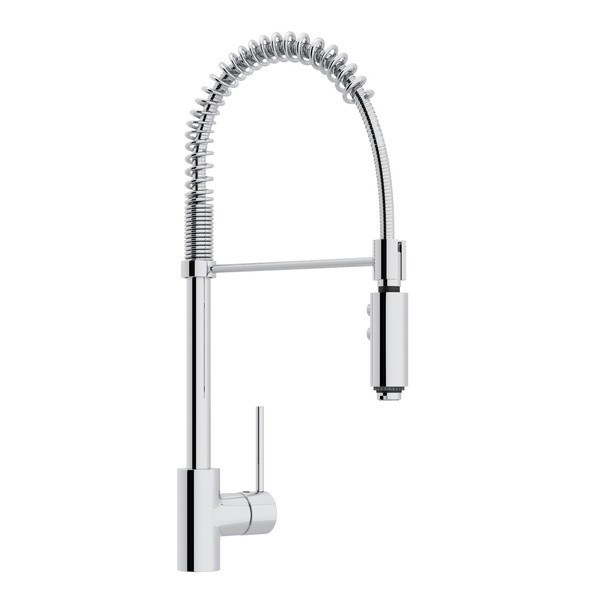 rohl ls64l 2 modern architectural side lever pro pull down single hole kitchen faucet