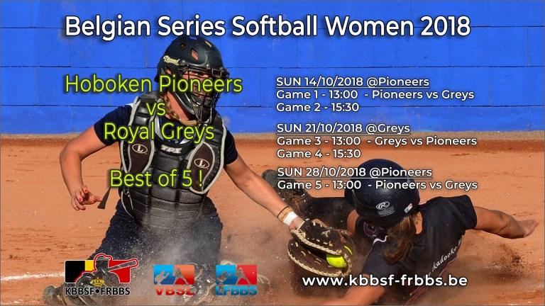 Belgian Baseball and Softball Series in full swing this weekend
