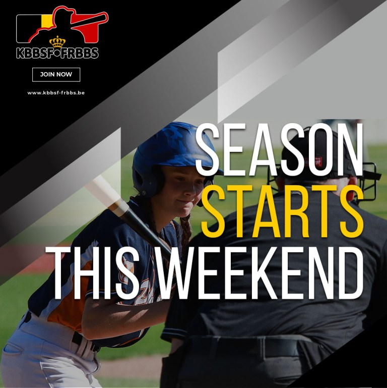 All Belgian Baseball and Softball Competitions 2021 will start this weekend