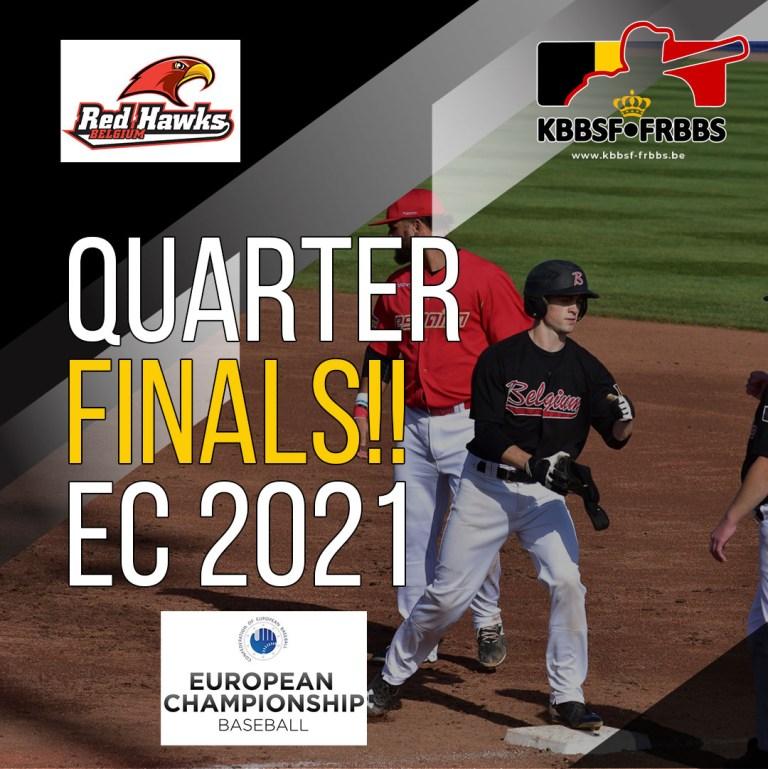 Red Hawks advance to QUARTER FINALS at EC2021