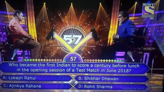 Ques Who became the first Indian to score a century before lunch in the opening session of a Test Match in June 2018