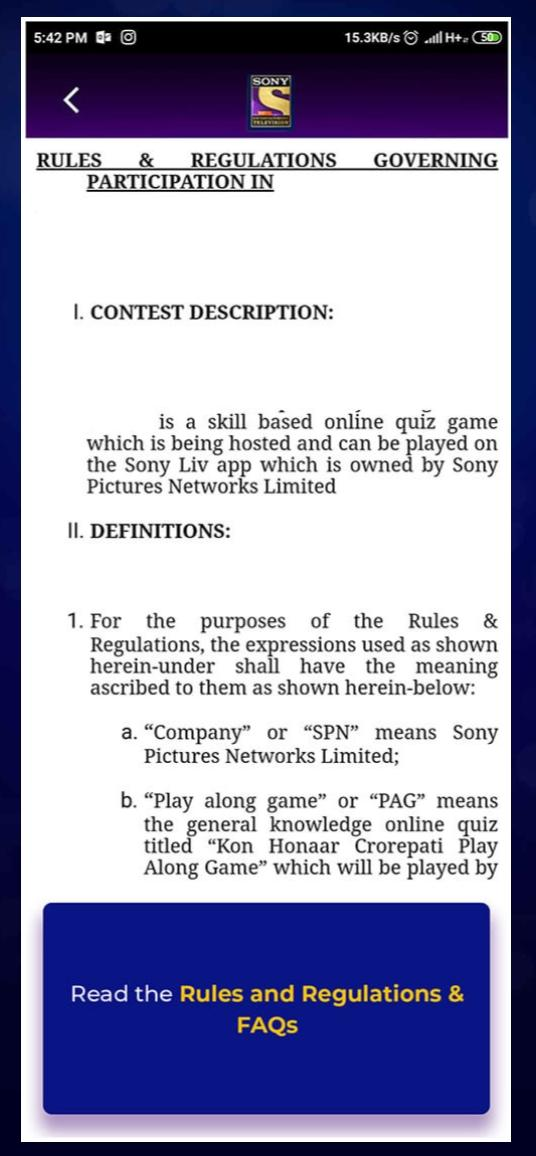 KBC Play ALong Terms and Conditions