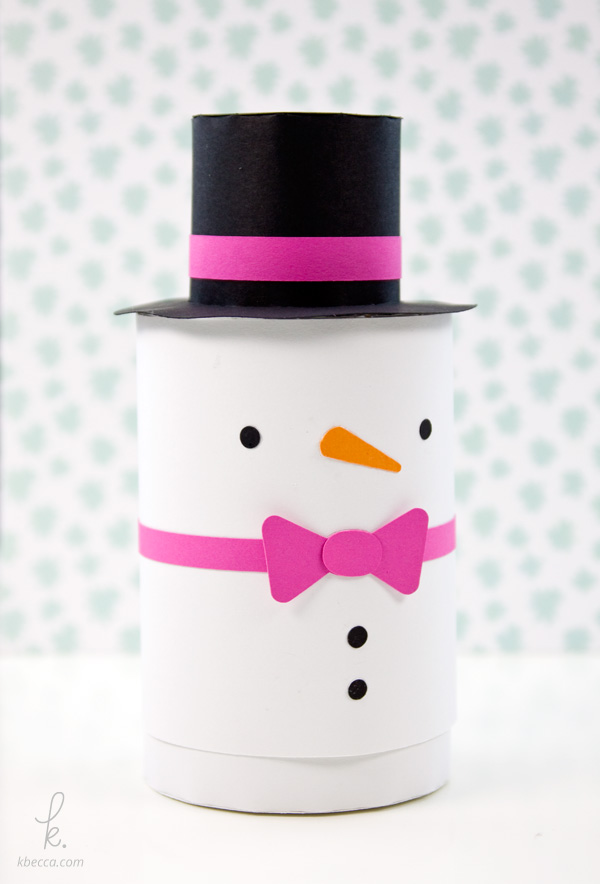 Simon The Snowman Cylinder Gift Box Assembly Instructions