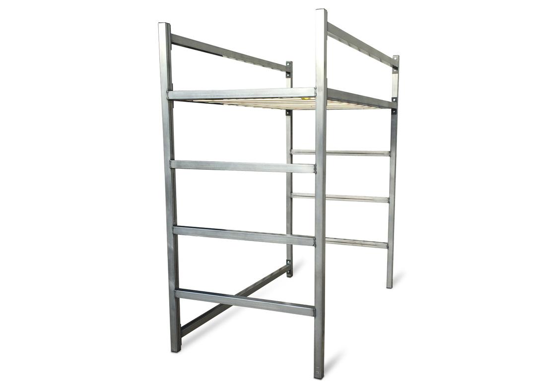 Unique Industrial Modern Steel Bed Kb Furnishings