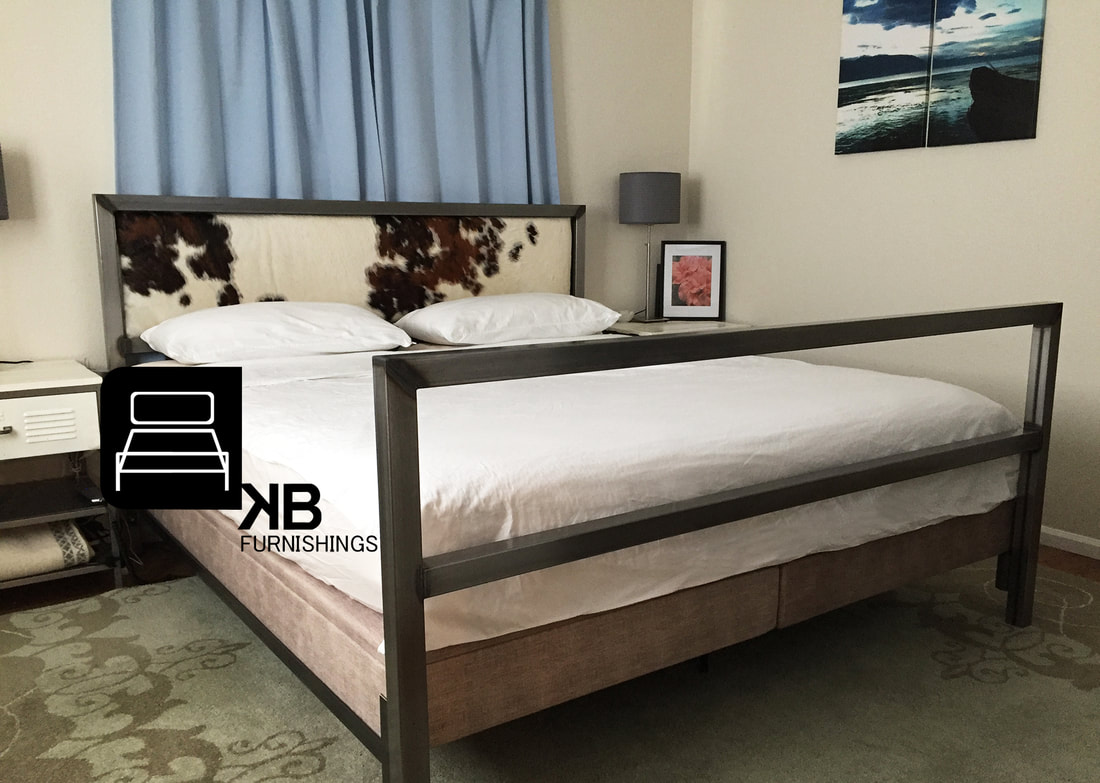 UNIQUE INDUSTRIAL STEEL BED MODERN FURNITURE AND