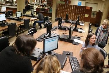 photo leeszaal salle de lecture (copyright Dimanche Malins)