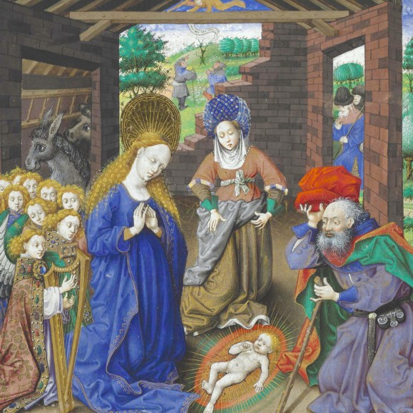 Birth of Christ. Breviary of Philip the Good for Paris use (winter part). ms. 9511, f. 43
