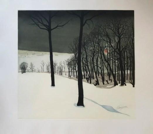 Le bois sous la neige