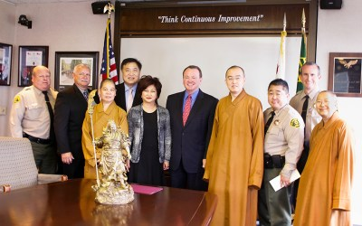 Hsi Lai Temple Shows their Gratitude for LA County Sheriff Department's Wonderful Service to the Community