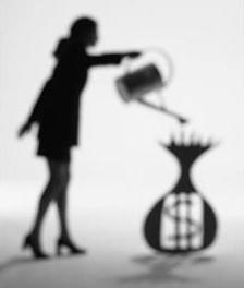 watering money