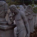 Angel on Tombstone at St. Marx's Cemetery