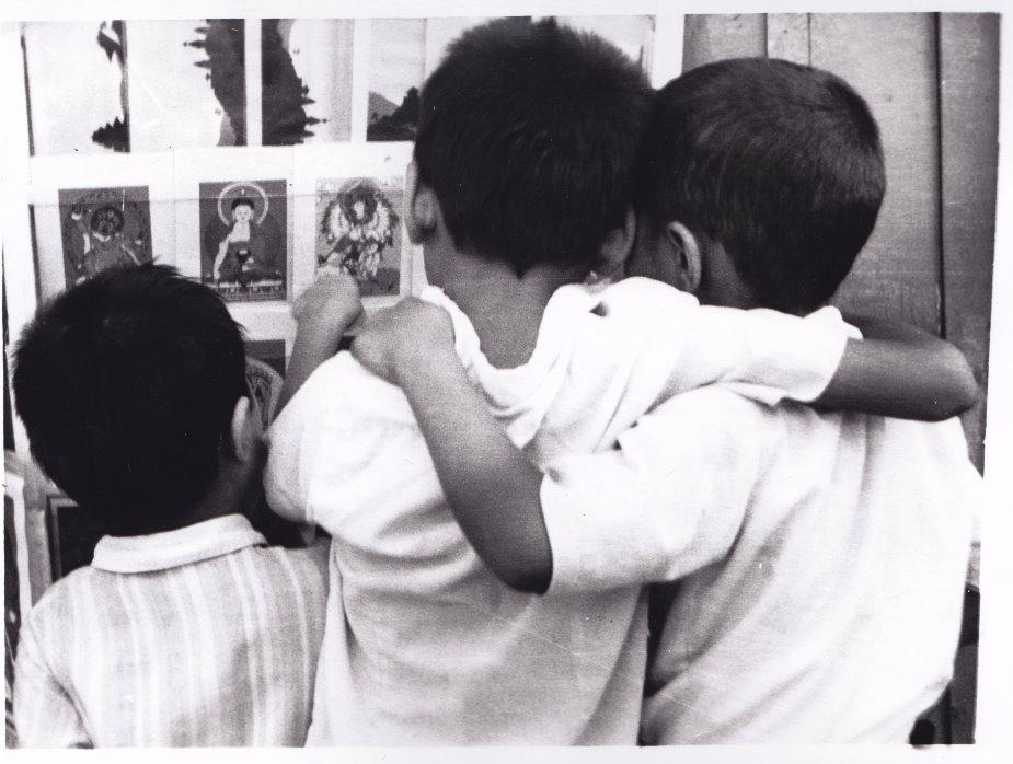 Boys in Kathmandu discussing Gods