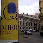 Miro From Earth to Heaven Albertina Exhibition Poster