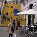Stairs of Albertina leading to Miro Exhibition