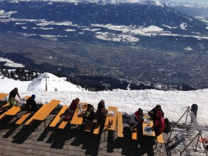 Seegruber Restaurant overlooking Innsbruck