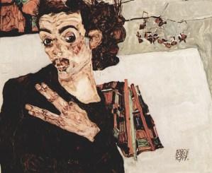 Self Portrait of Egon Schiele