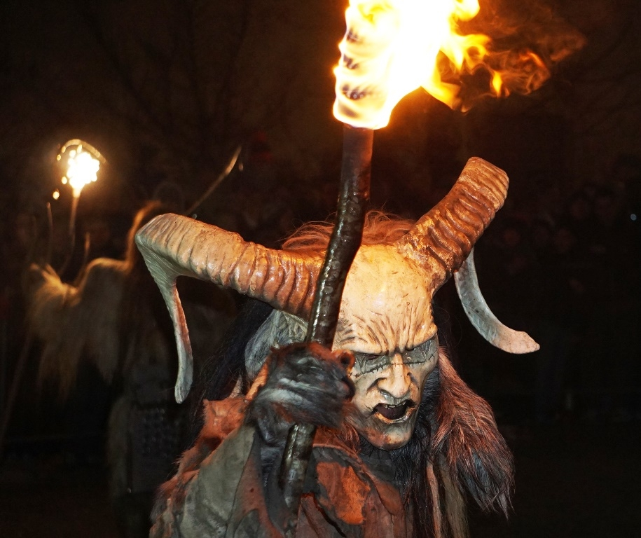 Torch bearing Krampus