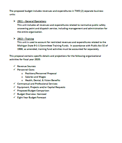 2020 budget 2nd page