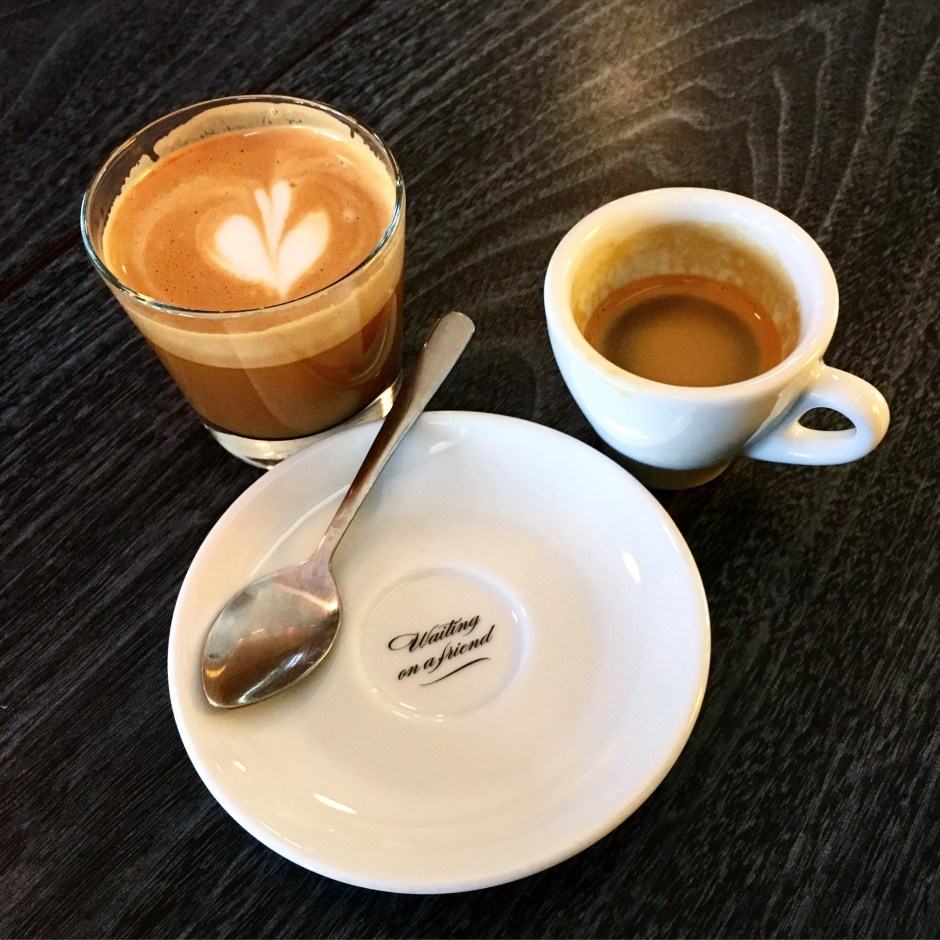 Spyhouse Cortado and Espresso