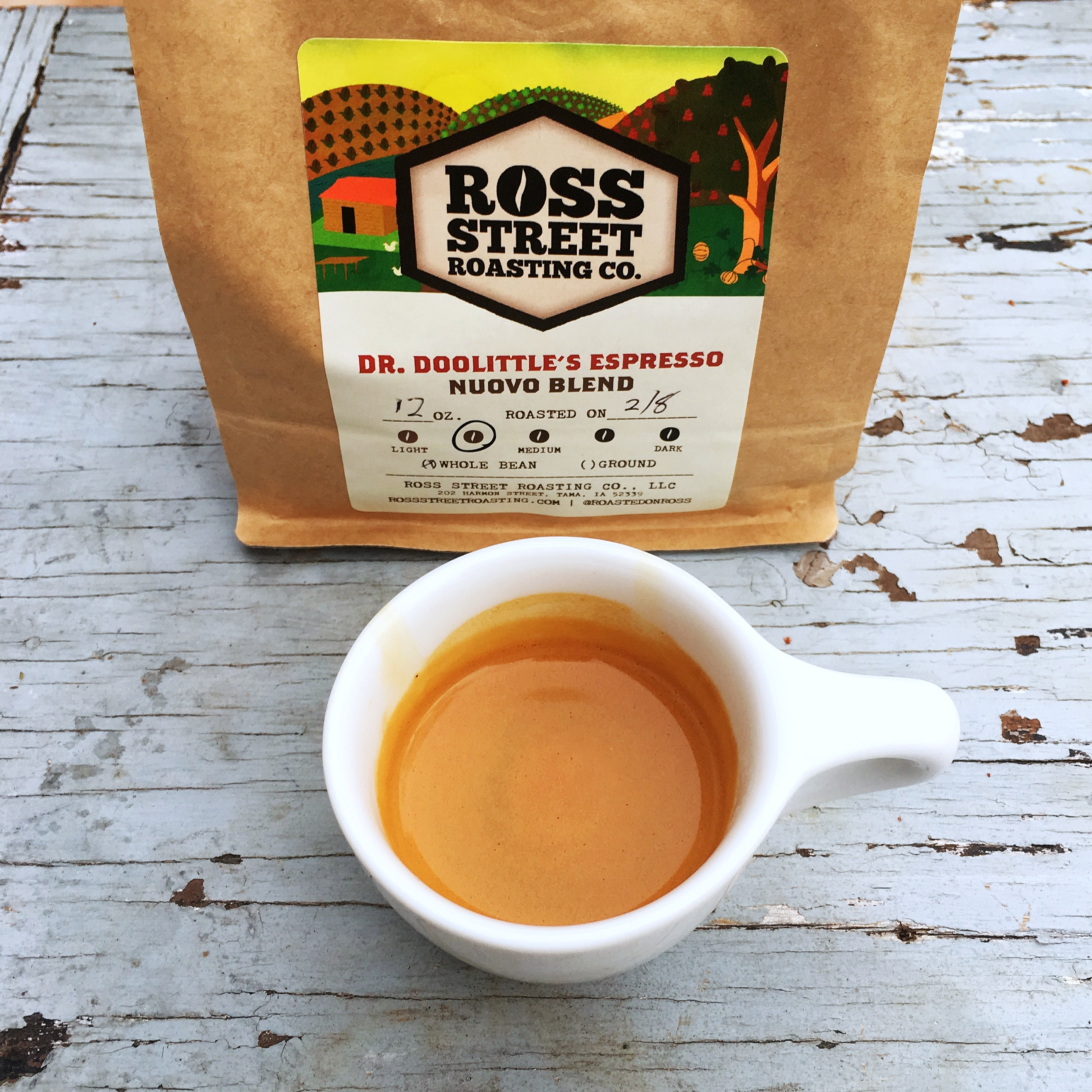 Ross Street Roasting Co. Dr. Doolittle's Espresso Nuovo
