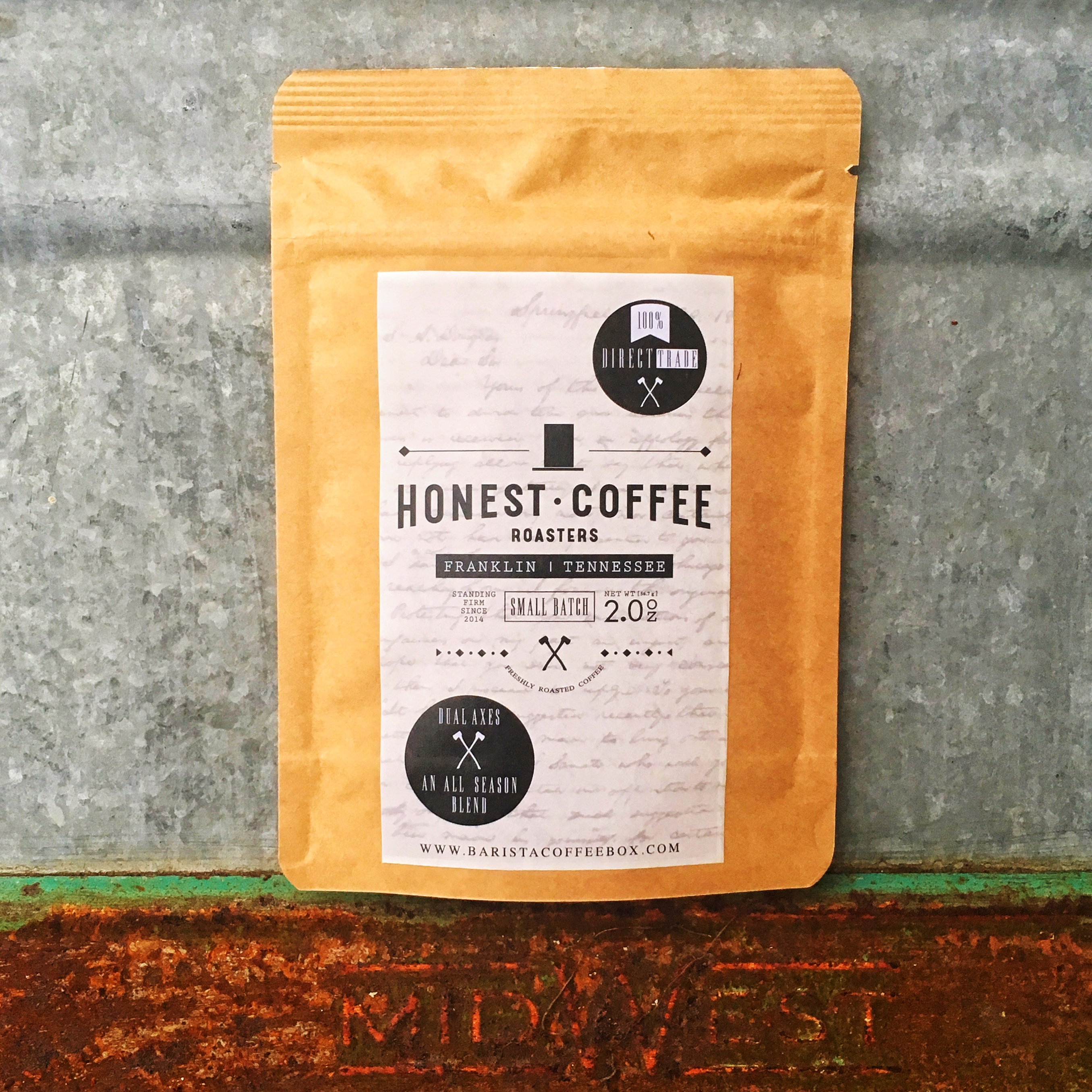 Barista Coffee Box x Honest Coffee Roasters Dual Axes Blend