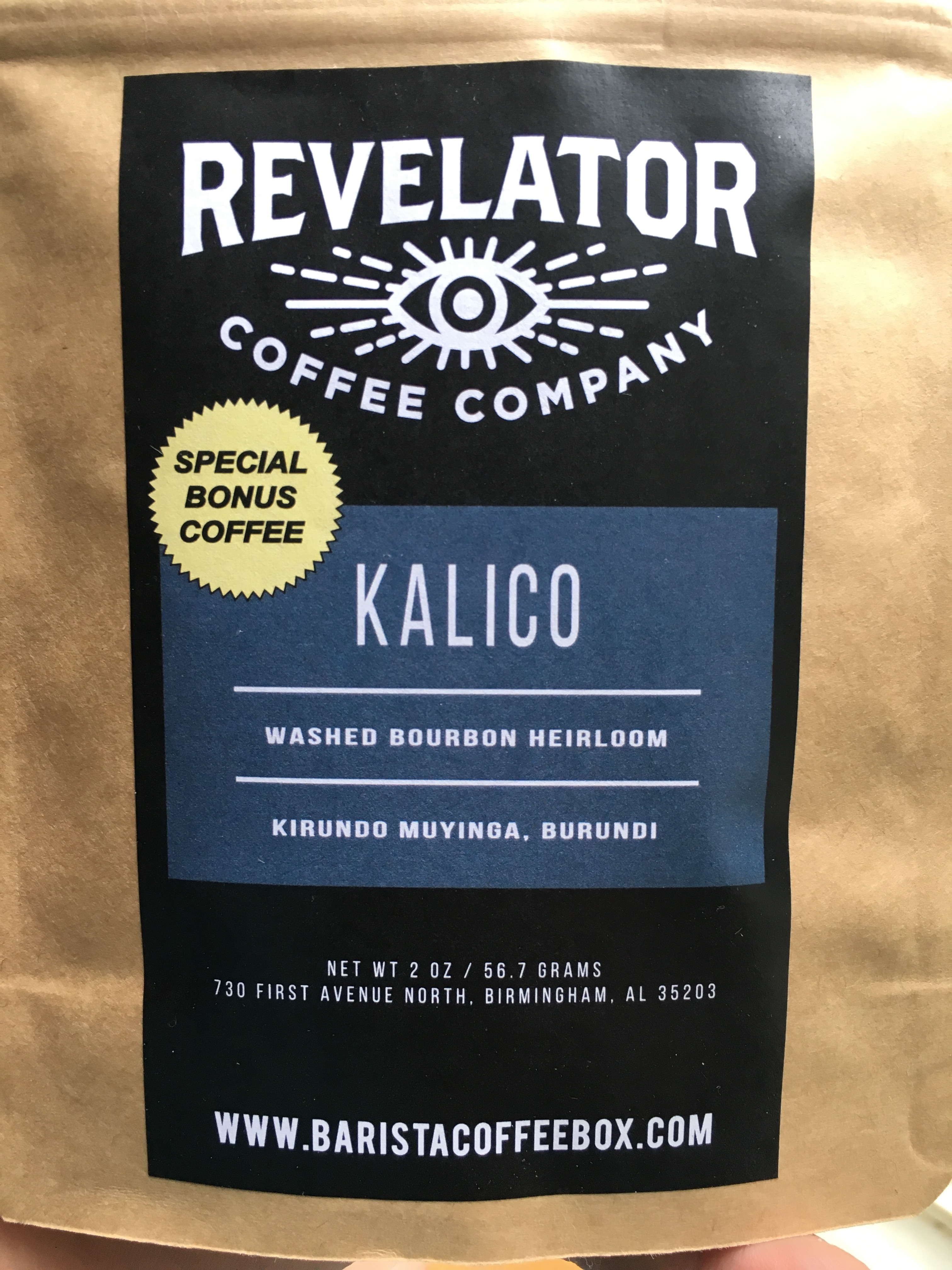 Barista Coffee Box 5/17: Revelator Kalico