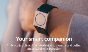 "Empatica's ""Embrace"" Watch doesn't just monitor activity and sleep, but also physiological stress and arousal"
