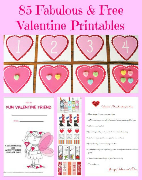 85 Valentines Day Cards Amp Games Free Printables