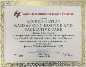 Kansas City Hospice certified Jewish hospice