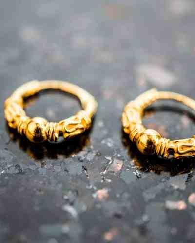 Gouden oorbellen 'Bali hoops'