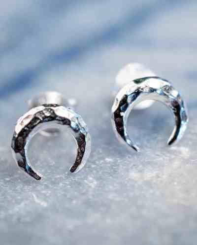 Sterling Zilveren 'Crescent Moon' oorbellen
