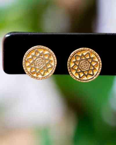 Gouden oorbellen 'Compass'