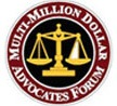 Multi-Million Dollar Advocates Forum seal.