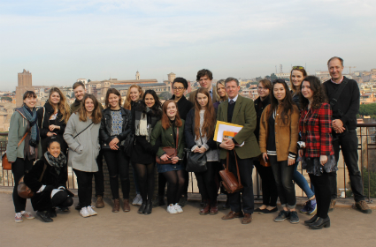 Group photo of students on Rumble Fund Trip 2015-16