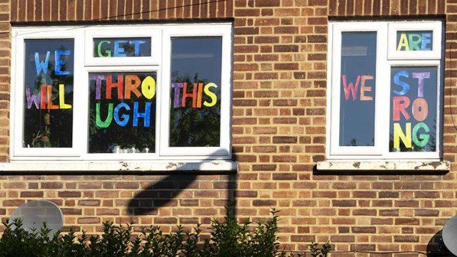 covid window message