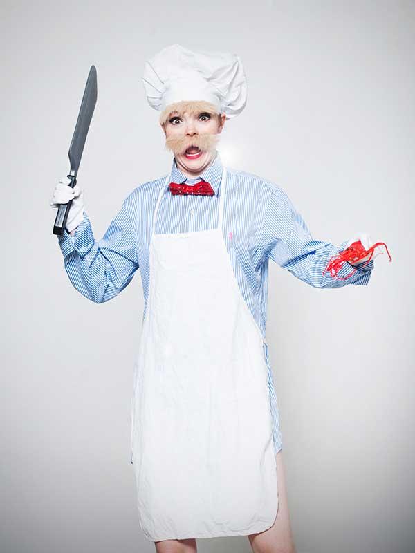 Petite Renard as the Swedish Chef