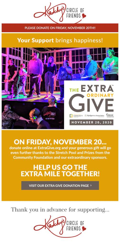ExtraGive Event   Friday, November 20th   Every Donation Helps!