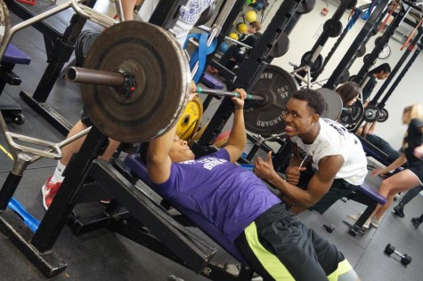 Students work out in low impact, strength and conditioning
